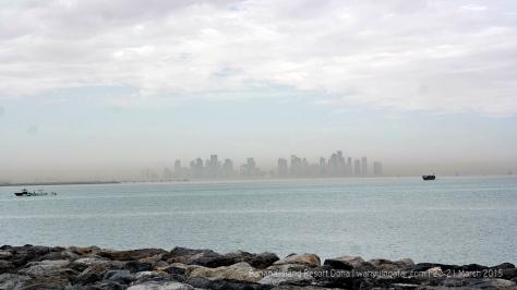 Doha Skyline from the island