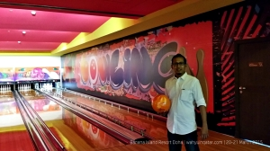 Bowling is not free. QR50 per person per game