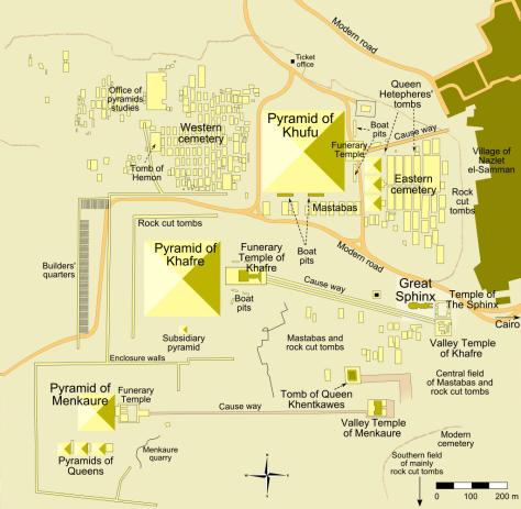Giza Pyramids Complex (Wikipedia)