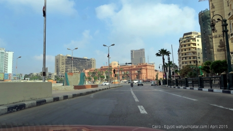 A road leading to Egyptian Museum