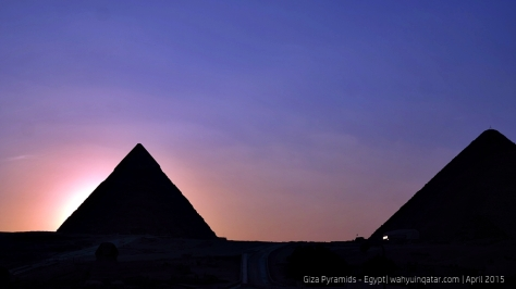 Pyramids silhouette during sunset was just stunning